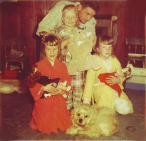 Cassady Family at Christmas - 1955
