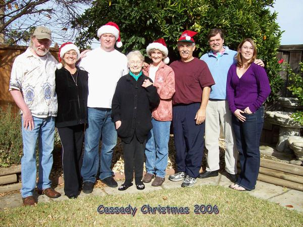 Cassady Family at Christmas - 2006