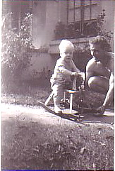 John on his rocking horse